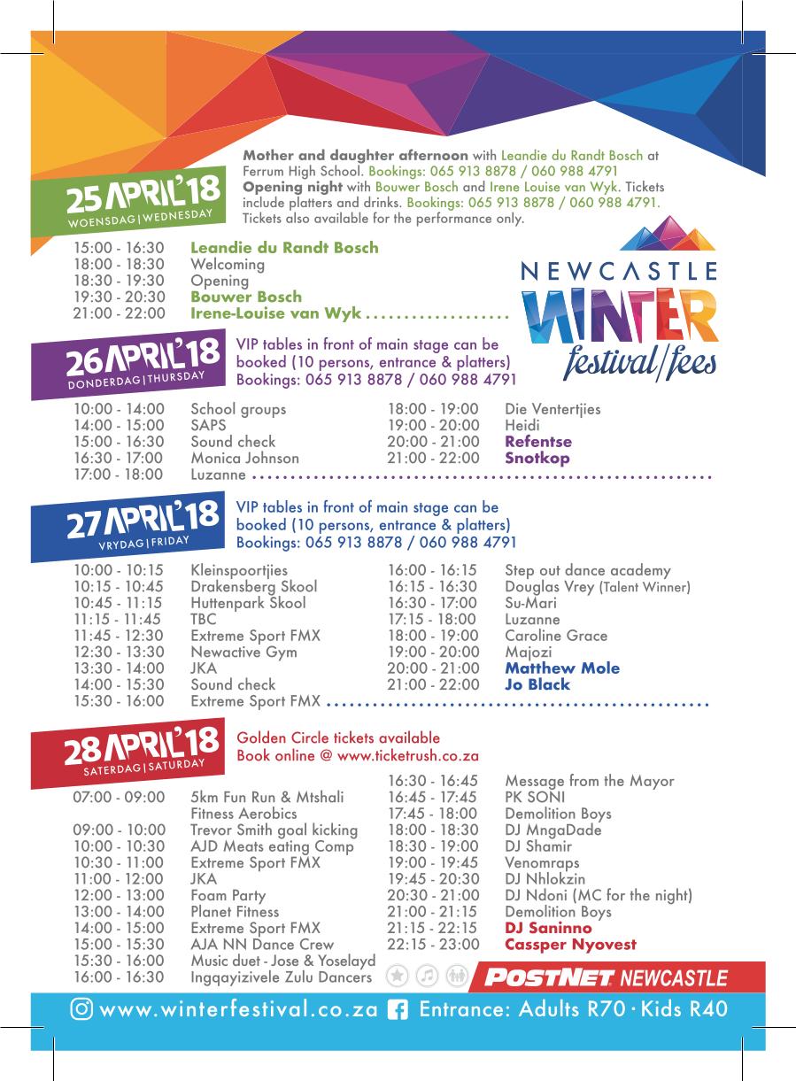 2018 Programme